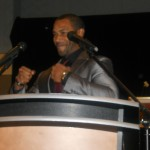 Omari demonstrates his strength after tears flowed amongst the women honorees and the audience during acceptance speeches.