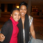 Terri Vaughn (Creative Award) poses with young student.