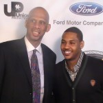 "Kareem Abdul- Jabbar & Carmelo Anthony - Film Premiere of  ""On the Shoulders of Giants."""
