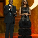 Hosts Wayne Brady and Holly Robinson Peete