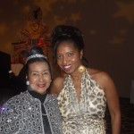 Sonya's Spotlight Magazine Publisher Sonya Jenkins with Xernona Clayton.