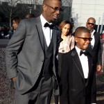 Rickey Smiley with son