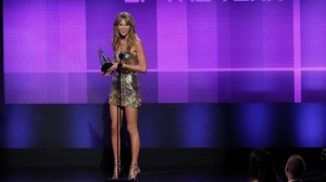 Taylor Swift won Sunday night's top honor, giving her a leading four trophies as fans celebrated the women of pop music.