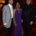 Sonya Jenkins poses with 2014 Trumpet Awards Honoree, Steve Pemberton (left) and 2013 Trumpet Awards Honoree Michael P. McMillan.