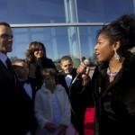 Sonya interviews Trumpet Award Honoree Steve Pemberton and his family.