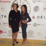 Actress Logan Browning (right) with her mom