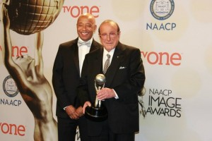 Russell Simmons presented Clive Davis with Vanguard Award at NAACP Image Awards