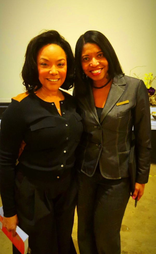 Sonya with actress Lynn Whitfield on GREENLEAF set.