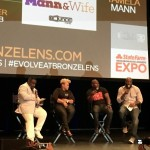 Moderator Rodney Perry interviews Omar Gooding, Angell Conwell, and Executive Producer Bentley Kyle Evans during Q & A panel