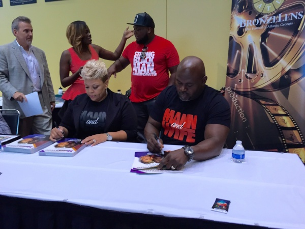 Tamela and David Mann at Bronze Lens Festival during The Steve Harvey Neighborhood Awards