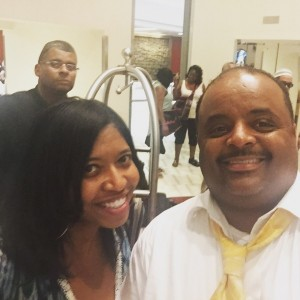 Roland Martin takes  a Selfie with Sonya's Spotlight Publisher Sonya Jenkins