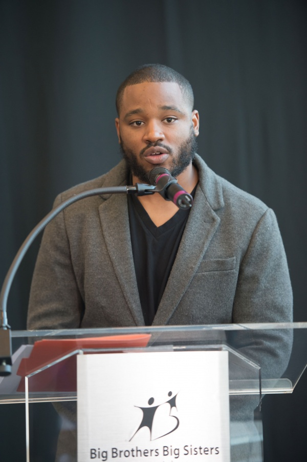 CREED writer-director Ryan Coogler speaks onstage during Big Brothers Big Sisters of Metro Atlanta mural unveiling