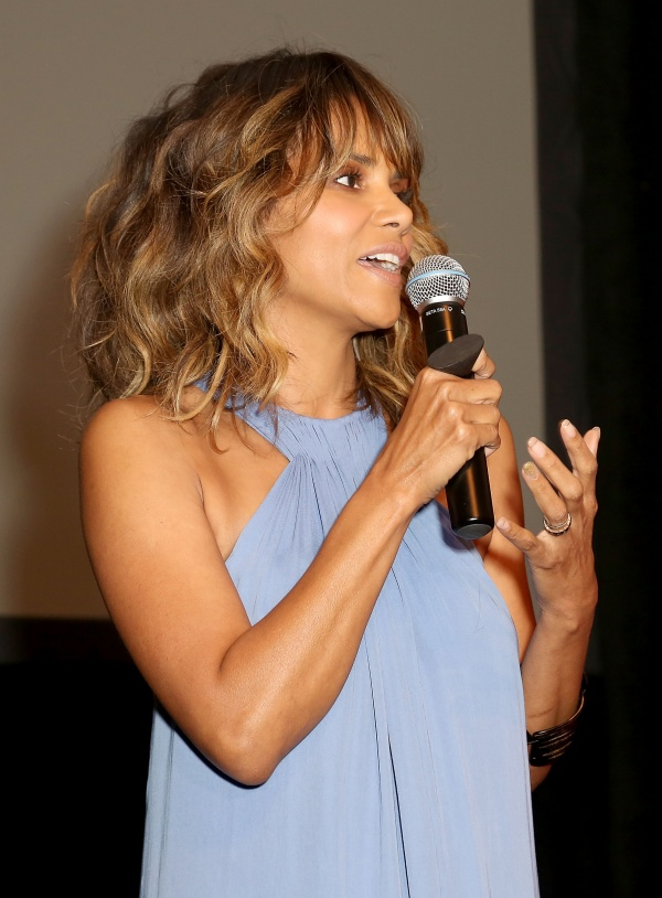 Honoree Halle Berry speaks onstage during the Black Women of Bond Tribute at the California African American Museum