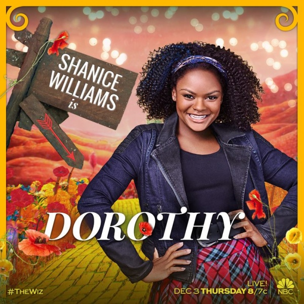 Shanice Williams as DOROTHY in THE WIZ LIVE!
