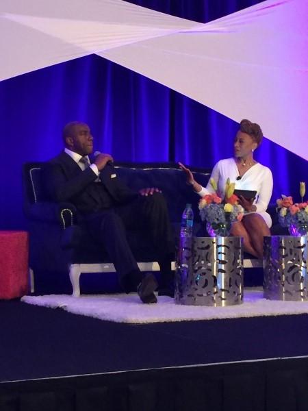Keynote Speaker Earvin Magic Johnson & Moderator Teneshia J. Warner