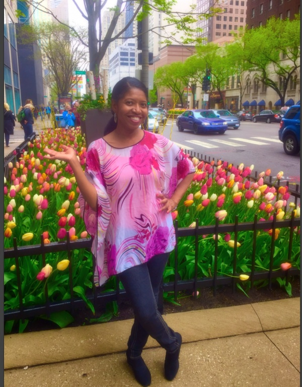 Sonya Jenkins on a Spring  Day in Chicago