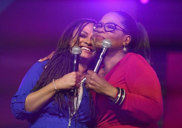 Oprah Winfrey with Queen Sugar director, Ava DuVernay