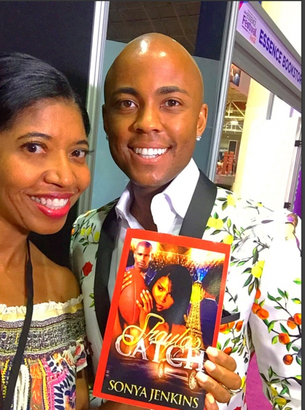 Dr. Farrah Gray stops by Essence Bookstore and greets Sonya Jenkins