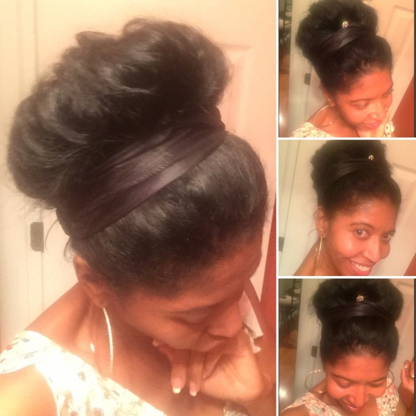 Easy UpDo style I found via social media for elegant and casual outings.