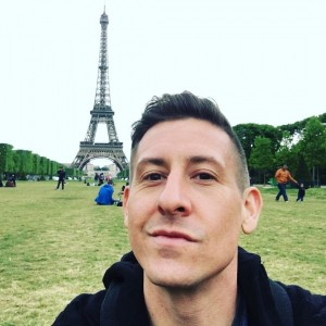 What is being a tourist without a selfie or two? Here is a capture of me in front of the Eiffel Tower relaxing on the Champe De Mars. I could sit here for hours gazing up at the tower.