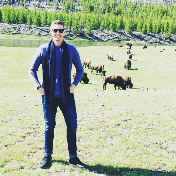 Yep, there is a picture of me standing in front of the Bison of Yellowstone.