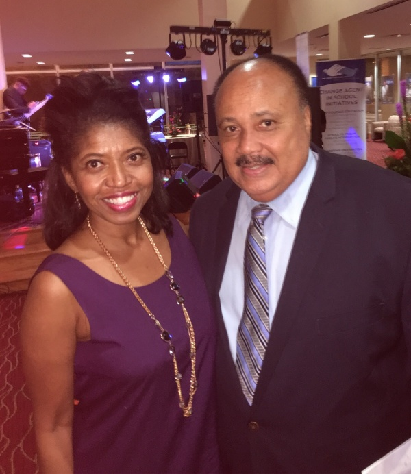 Sonya Jenkins poses with Dr. Martin Luther King III