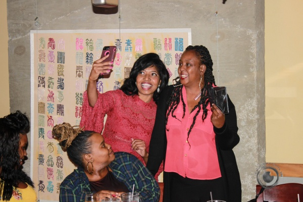 Sonya takes selfie with longtime friend. April White, and her daughters Rachel and Lia.