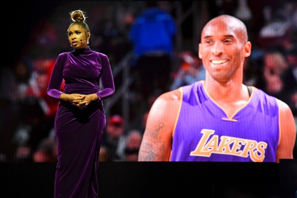 Jennifer Hudson performed a tribute to late Lakers legend Kobe Bryant. Getty Images