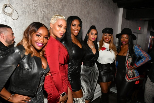 Waka-(L-R) Quad Webb, Eva Marcille, Kenya Moore, Tammy Rivera, Princess Banton-Lofters, and Kandi Burruss